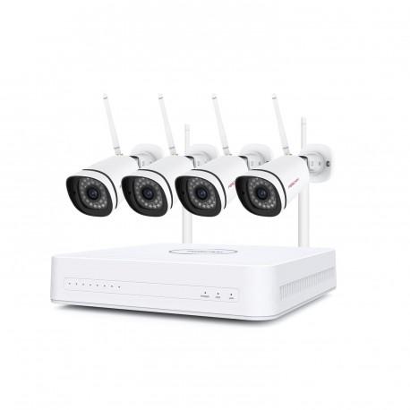 Kit vidéosurveillance Wifi 4 caméras IP 1080P - Foscam