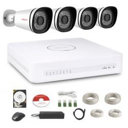 Kit de Vidéosurveillance numérique HD 4 Caméras 720P – Foscam FN3108XE-B4-1T