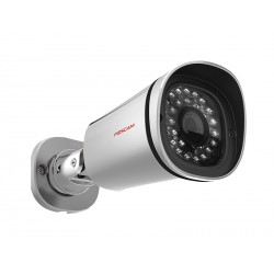 Camera IP HD exterieure infrarouge – POE, P2P, 1440p (H264), 4Mp – Foscam FI9901EP – Argent