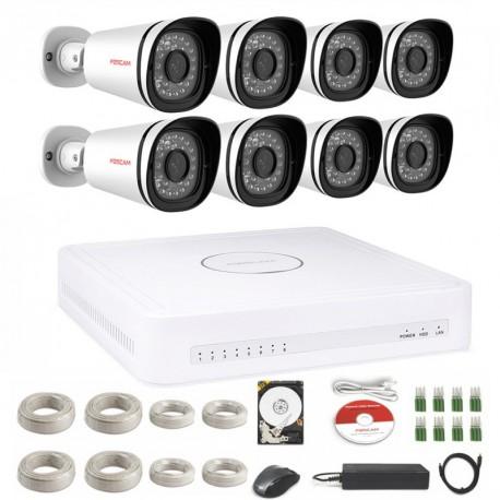 Kit de Vidéosurveillance numérique HD 720P – Foscam FN3108XE-B8-2T (8 caméras)