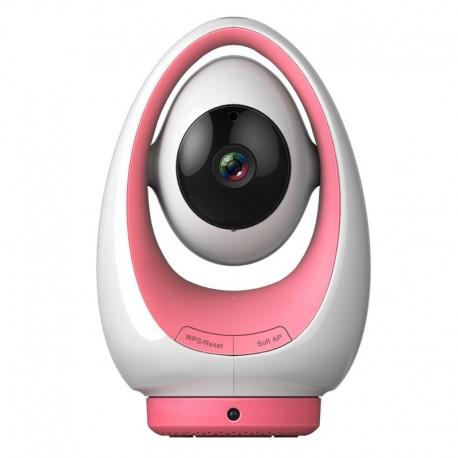 Camera IP wifi HD interieure motorisée infrarouge – Foscam FosBaby P1 – Rose